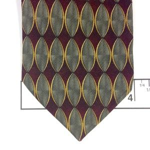 "XMI Accessories - LOUIS ROTH 100% Silk Men's Tie Geometric 4""x60"""